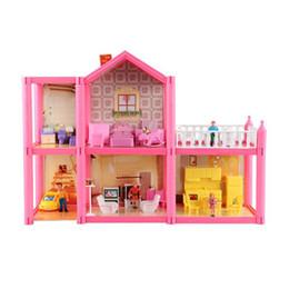 construir casa de vidrio Rebajas Casa de Muñecas DIY Casa Hecha A Mano Villa Miniatura ABS Casas de Muñecas Casa de Muñecas 3D realista Kit de Muebles para el Hogar Juguetes para Niños Regalos