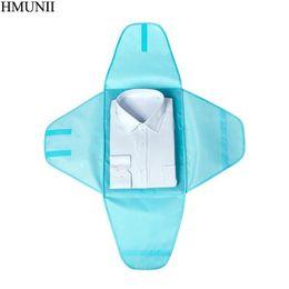 Accesorios de embalaje de ropa online-HMUNII Cubos de embalaje Ropa de tela de Oxford Camisa del bolso de viaje Pliegue Acabado Fitting Ideal Closet Travel Accessories Organizador