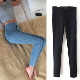 2019 abercrombie fitch Eastdamo Jeans Slim Pour Femmes Maigre Taille Haute  Jeans Femme Bleu Denim Crayon 3bed3e0b5d18
