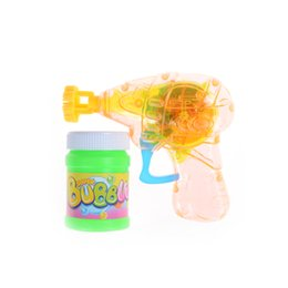Wholesale Toy Bubble Guns - 1Set Funny Bubble Gun Shooter Blower Outdoor Kids Child Toys Hot Selling Christmas