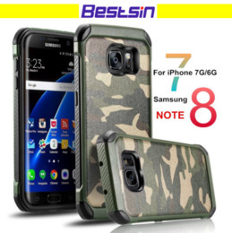 Wholesale Military Camo Case - Army Camo Style Phone Case Solider Spirit Hard Soft Combo Military Antishock Cellphone Case for iphone and Samsung DHL Free