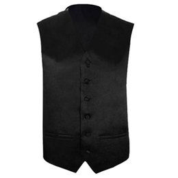 Wholesale Wholesale Men S Waistcoats - Mens Wedding Waistcoat Groom (Black S UK 36)