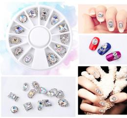 estilos de unhas de acrílico Desconto Tatyking 12 estilos nail art etiqueta dica decalque 3d acrílico glitter strass manicure pregos dicas de unhas diy