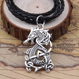 Collana di talismano online-Collana Nordic Vikings Il ciondolo scandinavo Collana con pendente Amuleto Collana norrena Talisman