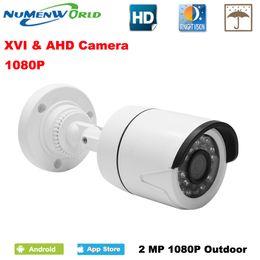 2019 versteckte camcorderuhr CCTV XVI / AHD 2.0MP 1080P HD Überwachungskamera mit IR-CUT 24 IR LEDs Nachtsicht Analoge Kamera für den Heimgebrauch indoor / outdoor