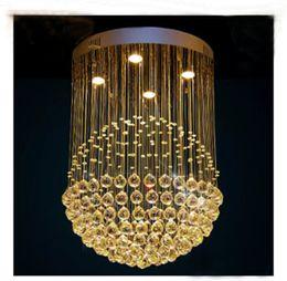 Nuevo Moderno LED K9 Bola de Cristal Candelabros de cristal bola de araña de luz luces de araña modernas Araña Claro Bola de luz de techo LLFA desde fabricantes