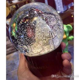 Sfera di cristallo Palla di vetro Decorazione per la casa Decorazione di Natale Palla di neve Bambini Regali XMAS HH7-961 da miniature alimentari all'ingrosso fornitori
