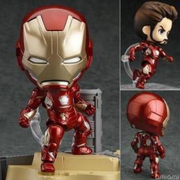 Wholesale Iron 45 - Hot New Iron Man Mark 45 Hero Edition Nendoroid #545 PVC Action Figure Collectible Model Toy 10cm
