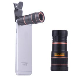 Wholesale Mobile Telephoto - 8x Zoom Optical Phone Telescope Portable Mobile Phone Telephoto Camera Lens and Clip for iphone smart phone