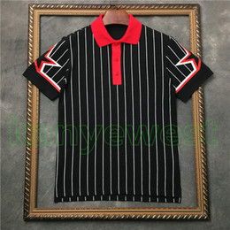 397a1f8e99 designer polo homme Promotion 2018 nouvelle marque de luxe hommes Stripe  T-shirt Manches étoiles
