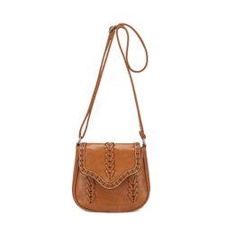 Wholesale Girls Saddles - New Vintage Women Messenger Bag Hollow Out Saddle Shoulder Bag Bolsa Feminina Women Small Purse and Handbag