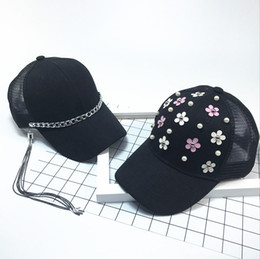 71057aaebca YONGLOU002 Kids Baby Hip Hop Baseball Caps Solid Black Metal Rings Chain  Snapback Hats Boy Girl Child Cavity Rivets Lace Gorras