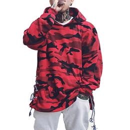 Sweat à capuche rouge camouflage hommes conception de mode pulls de coton casual pull à capuche streetwear vêtements pour hommes automne ? partir de fabricateur