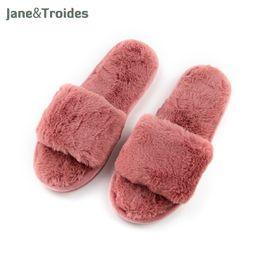 Wholesale Wholesale Quality Flip Flops - Fluffy Home Autumn Women Slippers Open Toe Soft Comfortable Plush Flip Flop High Quality Fleece House Sandal Fashion Woman Shoes