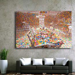 gerahmte gemälde für zu hause Rabatt 1 Panel Yayoi Kusama Dekoration Gemälde Japan Stil Farbtisch, Schreibtisch Wand Kunstdrucke Poster Für Wohnzimmer Wohnkultur Kein Rahmen