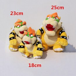 Wholesale Mario Plush For Free - 18-25cm 3Styles Optional Bowser Plush Super Mario Bros Bowser Koopa Stuffed Doll Soft Plush Doll Gift For Children Free Shipping