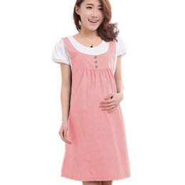 c7fc52a3e72 Maternity Clothes Summer Women Short Sleeve Patchwork Plus Size Casual Dress  Clothes for Pregnant Women Pregnancy Clothing
