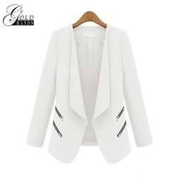 Wholesale Ladies Coat Office Wear - Women Spring Autumn Fashion Blazers Jackets Women Slim Long Sleeve Solid Coats Female Casual Suit Office Lady Blazers Work Wear