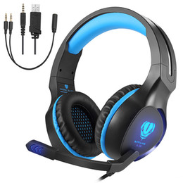 Wholesale Usb Pc Headset - Stoon Noise Isolation Surround Sound Stereo Headset with Mic Wired Over Ear Gaming Headphones with LED Light New Xbox One, PS4, PC