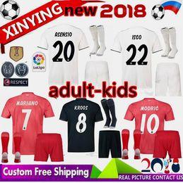 5d9ea473e4f champions league adult 2018 MARIANO real Madrid soccer jersey MODRIC  Marcelo men kids Kit 18 19 ASENSIO ISCO VINICIUS JR BALE Football Shirt
