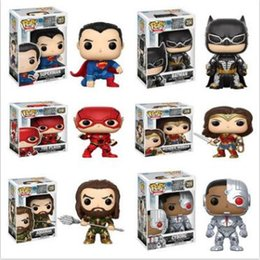Wholesale Kids Collections - Funko Pop Movies superhero Superman of Anime Movie Collection Action Figure Model PVC Kids Toys Novelty Items CCA9594 12pcs