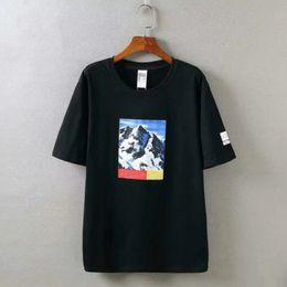 c8a62649ed8 18SS B0X Mountain short sleeve Logo High Quality Summer Skateboard T-shirt  Fashion Men Women Street Cotton Tee HFWPTX005