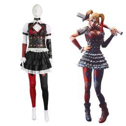 Wholesale Batman Arkham - Batman Arkham Asylum Harley Quinn Halloween Carnival Cosplay Costumes Outfit Party Dress Dark Knight Suit for Adult Women