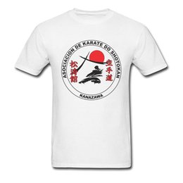 Wholesale Korea Top Tee - Warriors Fight Game Top T-Shirts Men Plus Size Yellow Cool T Shirts Shotokan Karate Tee Shirt For Men Custom Tshirt Korea