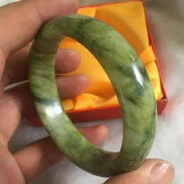 Китайские каменные браслеты онлайн-60 мм хороший красивый природный huanglong камень китайский браслет