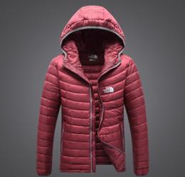 2019 capucha chaqueta de pana Los mejores hombres de la marca de moda de moda compran la chaqueta de abajo Deporte al aire libre conveniente llevar Con capucha Mantener caliente Abrigo suelto Casual chaqueta con capucha abajo