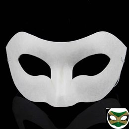 Wholesale paper matches - Hand Drawing Board Solid White DIY Zorro Paper Mask Blank Match Mask For Schools Graduation Celebration Cosplay Party Masquerade HH7-960