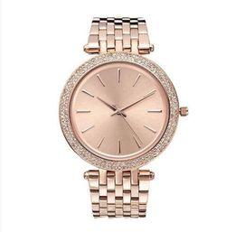38mm ultra sottile Ladies Design semplice full diamond watch womens luxury designer Top famoso marchio oro rosa bracciale in acciaio inossidabile 11 da