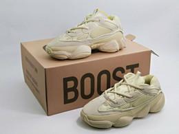 Wholesale Man Sneakers Discount - Discount Blush KANYE Boost 500 Kanye Sneakers Desert Rat 500 Mens Running Shoes Sport Boots Shoe Man Sports Boot Men Fashion Sports Sneaker