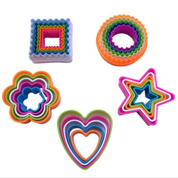 Wholesale Star Shaped Cookies Cutter - Baking Molds Cookie Cutters Cake Mould Mousse Cookie Cake Mold Five Star Rectangle Tree Heart Shape Hand Made Cakes Moulds DHL f