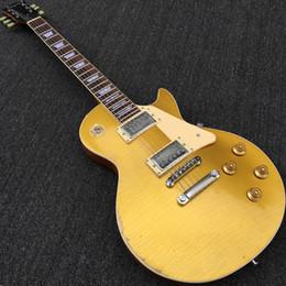 Canada Custom Shop 1959 vieilli Goldtop Relique Gold Top guitare électrique TonePro Bridge, One Piece Body Neck, écrou osseux, micros Humbucker Offre
