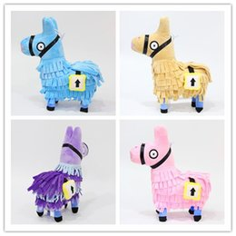 Rolo de brinquedo on-line-4style fortress night roll Stash Llama Boneca Figura Stuffed Animal Toys Stash fortress Lhama Boneca De Pelúcia de pelúcia boneca 25 cm PRESENTE de NATAL