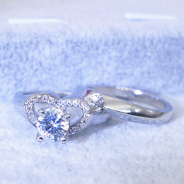 Rabatt Herzform Diamant Verlobungsringe 2018 Herzform Diamant