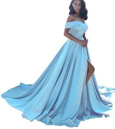 Canada Épaule des femmes une ligne split robes de soirée de bal de bal longue robe formelle Offre