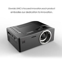 Orijinal Unic UC18 Mini LED Projektör Taşınabilir Cep Projektörler Multimedya Oynatıcı Ev Sinema Oyun HDMI USB TF Beamer Destekler nereden 3d projektör ucuz tedarikçiler
