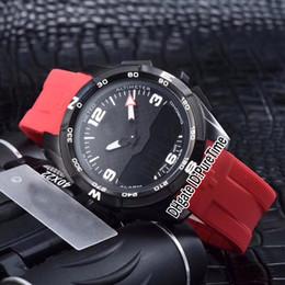 Reloj led de goma para hombre online-Nuevo Touch Colletion 1853 T091 40mm Pantalla Doble Digital Reloj de Cuarzo Suizo para Hombres Goma Roja 6 Estilos Relojes Deportivos de Alta Calidad TSTB01b2