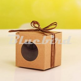 Wholesale Cupcakes Kraft Boxes - Wholesale- New Style Square Single Cupcake Box Kraft Single Cake Boxes Gift Box For Party Big And Smaller Size 12pcs