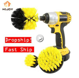 Wholesale power rollers - 3 pcs Power Scrubber Brush Drill Brush Clean for Bathroom Surfaces Tub Shower Tile Grout Cordless Power Scrub Drill Cleaning Kit