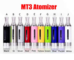 Wholesale Evod Bcc Mt3 Coil - MT3 Atomizer EVOD BCC Clearomizer MT3 Atomizer 1.5ml Bottom Coil Tank Cartomizer Electronic Cigarettes Vaporizer for EGO twist Battery