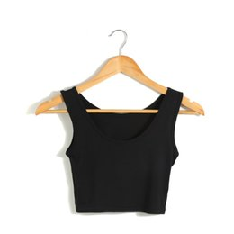 Wholesale Knit Halter - Summer Women Slim Halter Camisole Tops Female Bodycon Knitted Tanks Sleeveless Basic Solid T shirts 2017 Women Tank Tops Cropped