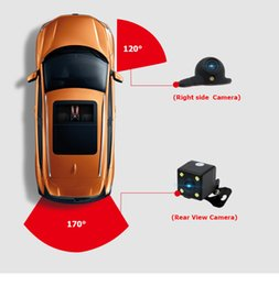 Wholesale hyundai automatic cars - Car camera for Right left blind spot system Car rear view camera Parking System Mini Two Video Automatic Switch Control box