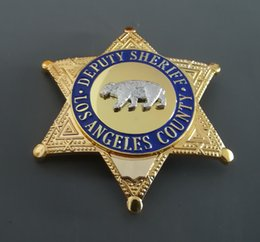Wholesale usa d - DEPUTY SHERIFF bear chapter pure copper, Losangeles County, USA
