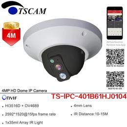 Wholesale camera surveillance ip wiring - New TS-IPC-401B61HJ0104 HD 4MP Dome IP Camera ONVIF H.265 WDR Indoor IR Mini CCTV Security Surveillance Monitor Camera P2P