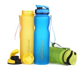 Discount plastic scrub - 1000ML Sports Water Bottles Plastic Cups Scrub Space Cup Eco-Friendly Tritan BPA Free Climbing Hiking Cycling Bottle U0075