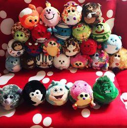 Wholesale penguin monkey - Ty Beanie Boos plush doll Big Eyes Animals Dolls Owl Penguin Monkey Plush Doll Stuffed Plush Animals toys for children gift KKA5627