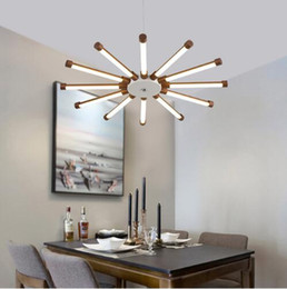 Wholesale Led Lamp E27 24v - Minimalist modern LED pendant lights sunflower chandeliers suspension pendant lamp ceiling lighting fixture indoor lighting decoration